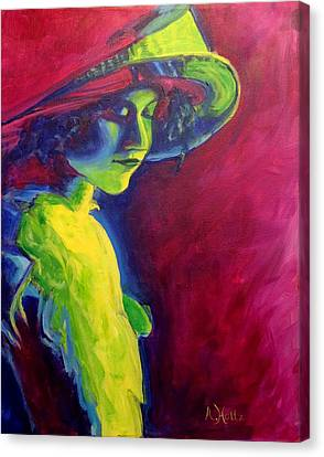 Canvas Print featuring the painting Tender Moment by Arlene Holtz