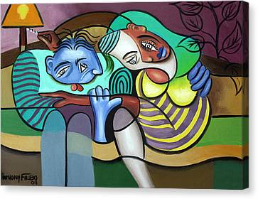 Tender Moments Canvas Print by Anthony Falbo