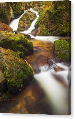 Early Spring Canvas Print - Tendon's Waterfall by Maciej Markiewicz