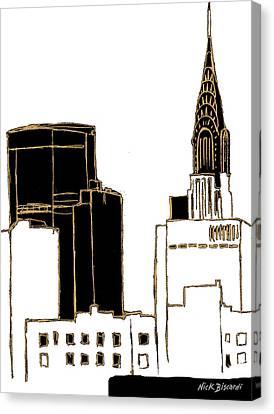Tenement Empire State Building Canvas Print by Nicholas Biscardi