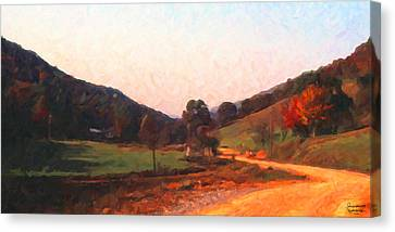 Tennessee Road Canvas Print by Spyder Webb