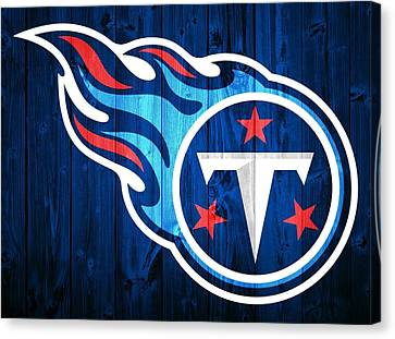 Tennessee Titans Barn Door Canvas Print by Dan Sproul