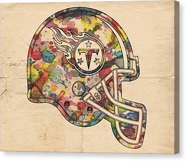 Tennessee Titans Helmet Poster Canvas Print by Florian Rodarte
