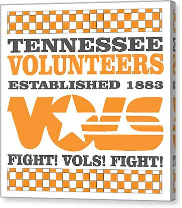 Tennessee Volunteers Fight Canvas Print by Debbie Karnes