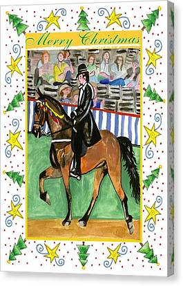 Tennessee Walking Horse Blank Christmas Card Canvas Print by Olde Time  Mercantile