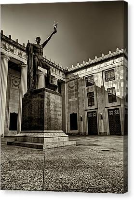 Nike Canvas Print - Tennessee War Memorial Black And White by Joshua House