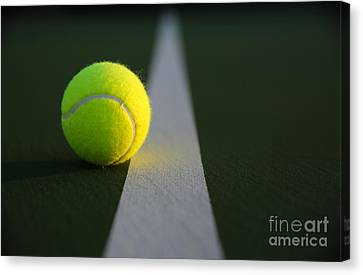 Tennis Ball At Last Light Canvas Print