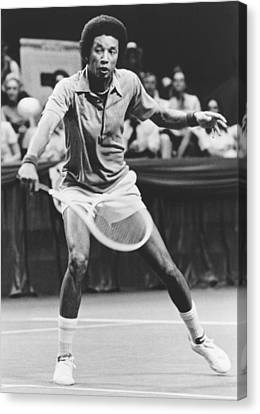 Ashe Canvas Print - Tennis Champion Arthur Ashe by Underwood Archives