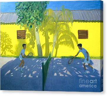 Two Suns Canvas Print - Tennis  Cuba by Andrew Macara