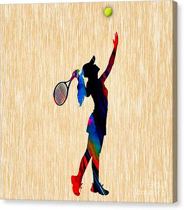 Sports Canvas Print - Tennis Game by Marvin Blaine