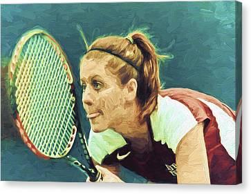 Tennis Iupui Digitally Painted Dh Canvas Print by David Haskett