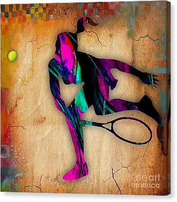 Tennis Painting Canvas Print
