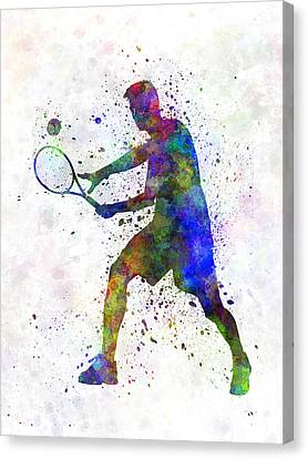 Tennis Player In Silhouette 01 Canvas Print by Pablo Romero