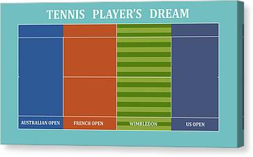Tennis Player-s Dream Canvas Print by Carlos Vieira