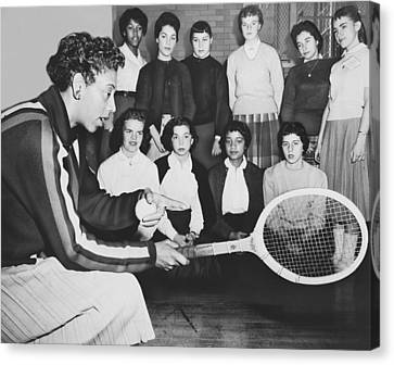 Althea Canvas Print - Tennis Star Althea Gibson by Ed Ford