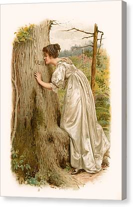 Tennyson S Olivia Canvas Print by George Goodwin Kilburne