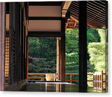 Canvas Print featuring the photograph Tenryui-ji - Temple - Kyoto by Jacqueline M Lewis