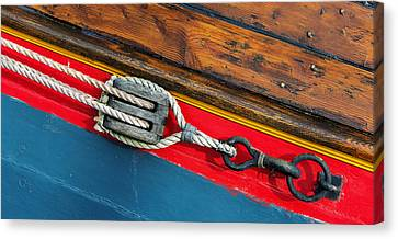 Tension On The Sailing Vessel Canvas Print