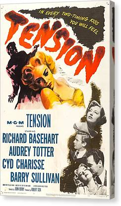 1950 Movies Canvas Print - Tension, Us Poster, From Top Audrey by Everett