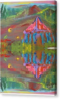 Tent Reflections Canvas Print by Deborah Montana