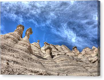 Canvas Print featuring the photograph Tent Rocks No. 1 by Dave Garner