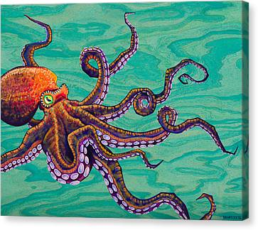 Squid Canvas Print - Tentacles by Emily Brantley