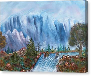 Tepid Canvas Print by The GYPSY And DEBBIE