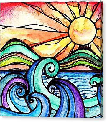 Tequila Sunrise #aceo #artcard #art Canvas Print by Robin Mead