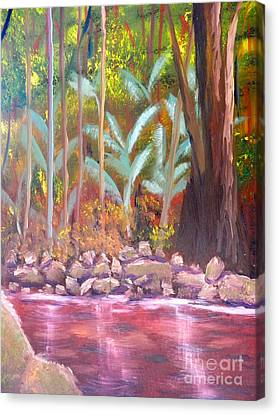 Terania Creek Canvas Print by Pamela  Meredith
