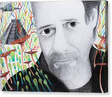 Terence Mckenna Canvas Print by Maxwell Hanson