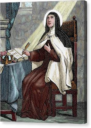 Teresa Of Avila (1515-1582 Canvas Print by Prisma Archivo