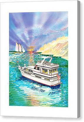 Chris Craft Custom Canvas Print - Terifico At Anchor by Jack Pumphrey