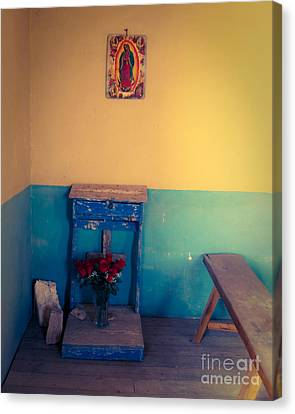 Terlingua Church Offering Canvas Print by Sonja Quintero