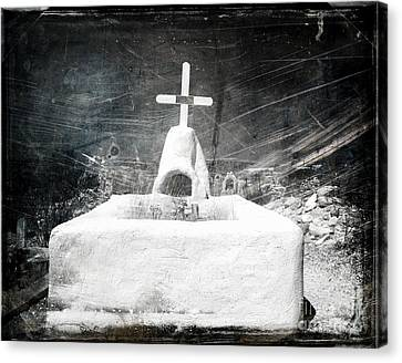 Terlingua Graves Canvas Print by Sonja Quintero