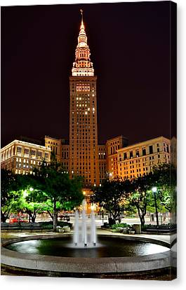 Terminal Tower Version Three Canvas Print by Frozen in Time Fine Art Photography