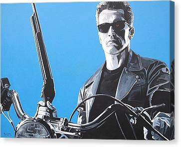 Terminator I'll Be Back Canvas Print by Patrick Killian