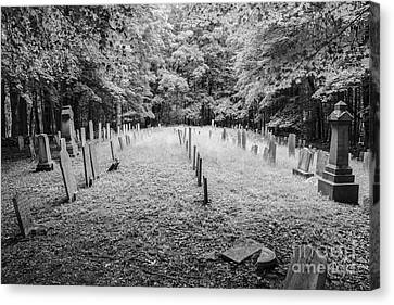 Terpenning Cemetery B And W Canvas Print