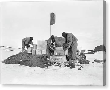 Terra Nova Antarctic Depot Laying Canvas Print