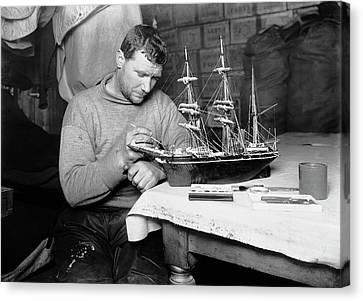 Terra Canvas Print - Terra Nova Antarctic Model Ship by Scott Polar Research Institute