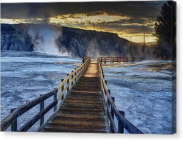 Terrace Boardwalk Canvas Print by Mark Kiver