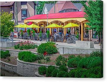 Terrace Dining On The Monon Trail Canvas Print