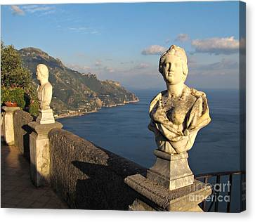 Terrace Of Infinity In Ravello On Amalfi Coast Canvas Print by Kiril Stanchev