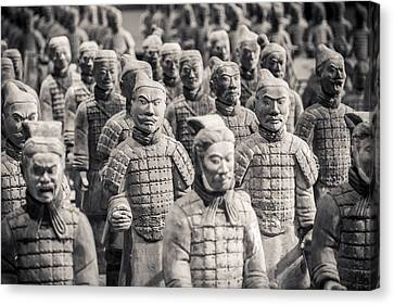 Terracotta Army Canvas Print by Adam Romanowicz