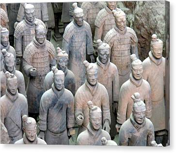 Canvas Print featuring the photograph Terracotta Warriors by Kay Gilley