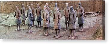 Terracotta Warriors, Xian, Shaanxi Canvas Print