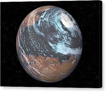 Terraformed Mars Canvas Print