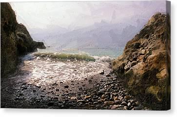 Palos Verdes Cove Canvas Print - Terranea Cove by Ron Regalado