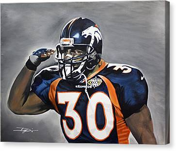 Terrell Davis  Canvas Print by Don Medina