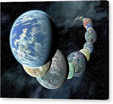Terrestrial Planets Canvas Print by Nasa/jpl-caltech/r. Hurt (ssc-ca