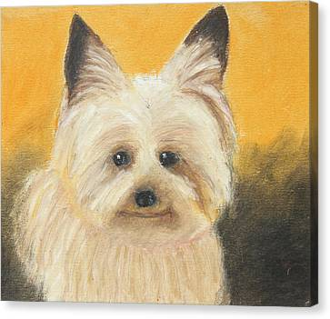 Terrier Canvas Print by Jeanne Fischer